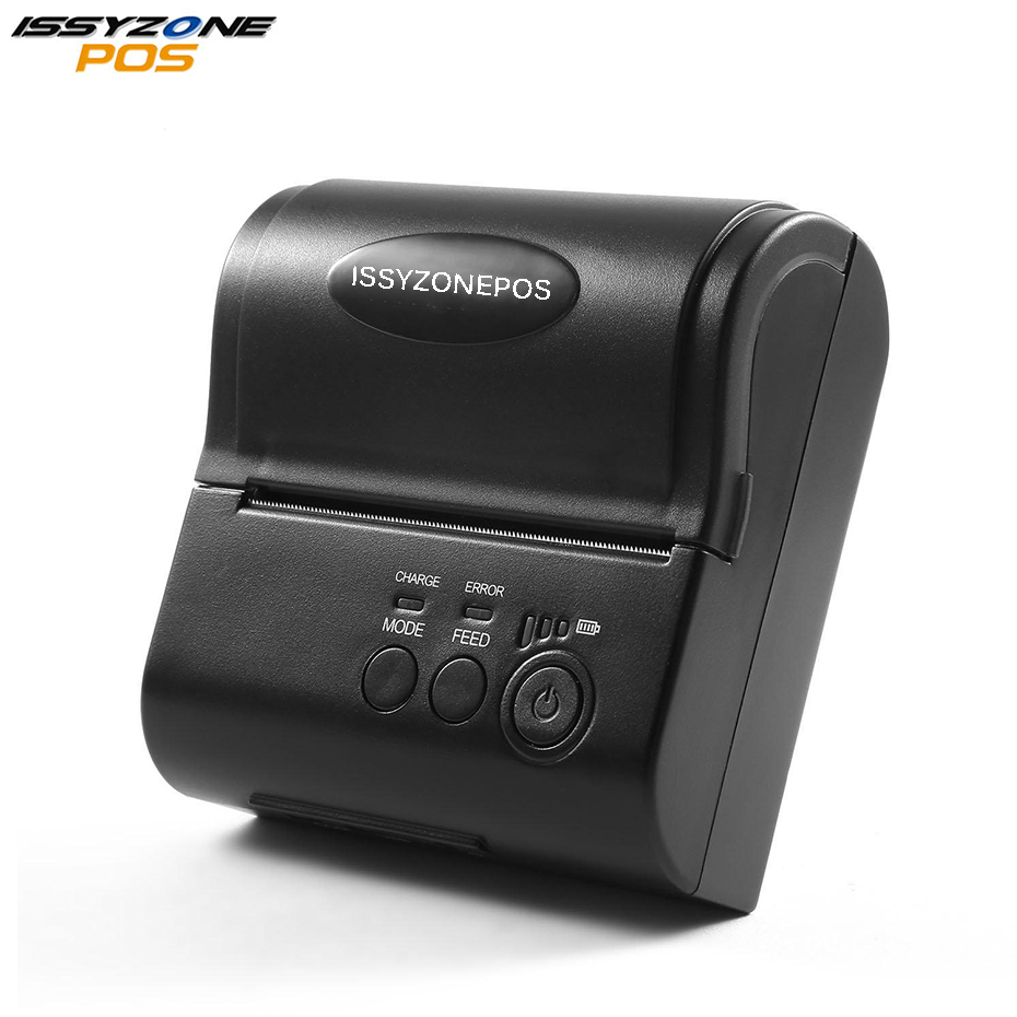 ISSYZONEPOS Bluetooth Mini Portable Thermal Printer 80mm Receipt Printer Barcode Mobile Order Printer For Android/iOS in Stores