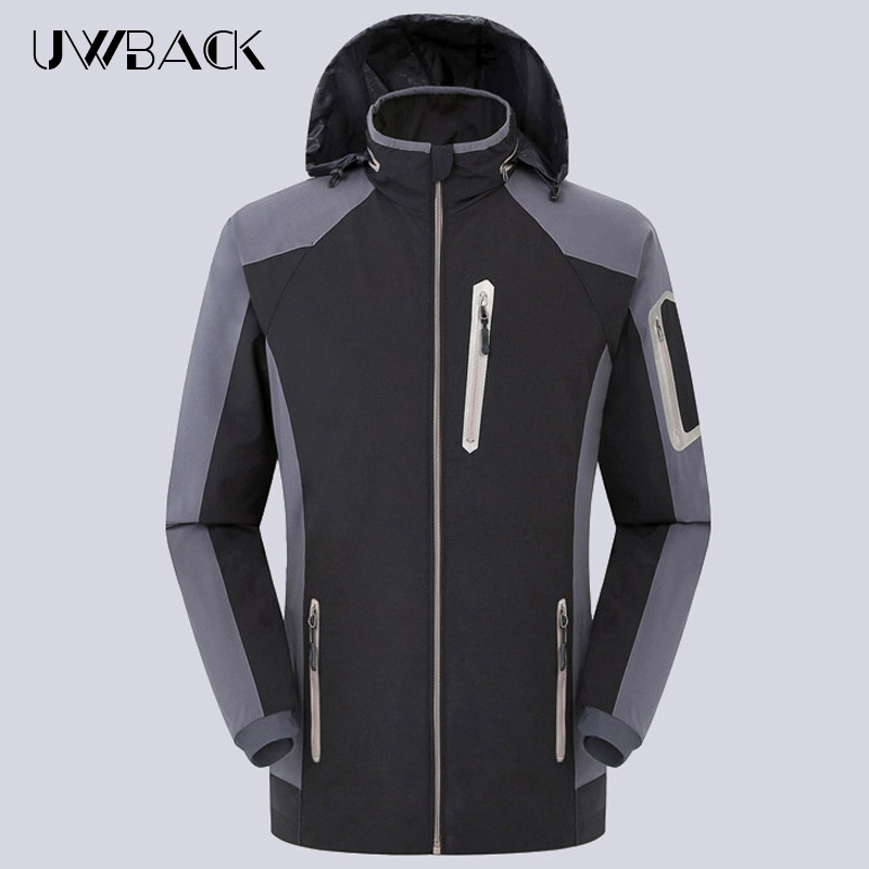 ФОТО 2017 Spring Outdoor Sport Softshell Jacket Men Breathable Hiking Coat Men's Waterproof Windproof Camping Jackets With Hat,UA244