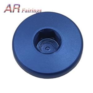 Image 4 - Aluminum For Yamaha YFM700 YFM 700 Top Crankcase Oil Filler Plug & O Ring Raptor Quad Blue Black Silver Red
