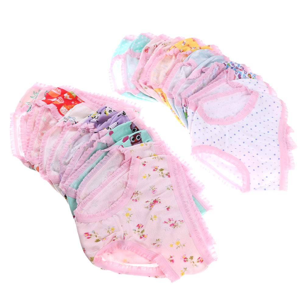 1pcs Baby Girls Soft Underwear Cotton Panties Kids Short Briefs Children Underpants Fashion Randomly For Baby Girls