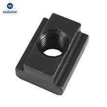 T-Slot-Nut Black Tapped-Through-Slot M10 M5 M6 M8 DIN508 Finish-Grade Oxide