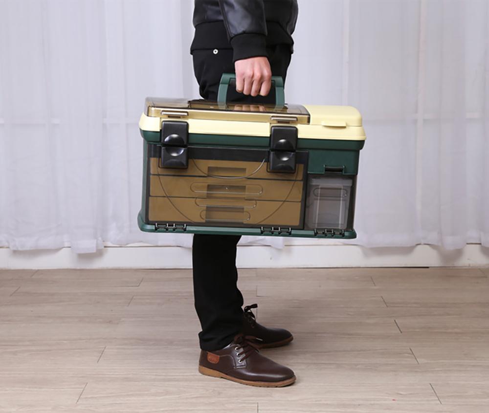 topind Fish Tackle Box, Neon GreenBlack