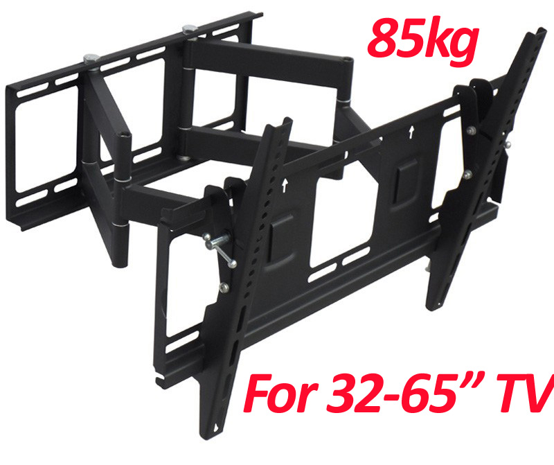 "Universal 30""-65""85kg 600x400 heavy duty swing arm retractable LCD PLASMA full motion tv bracket lcd wall mount"