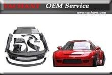 Автомобиль Для Укладки Стекловолокна FRP Bodykits Подходит Для 92-97 RX7 FD3S Rocket Bunny V2 Стиль Широкий Обвес Бампер Крыло Спойлер диффузор