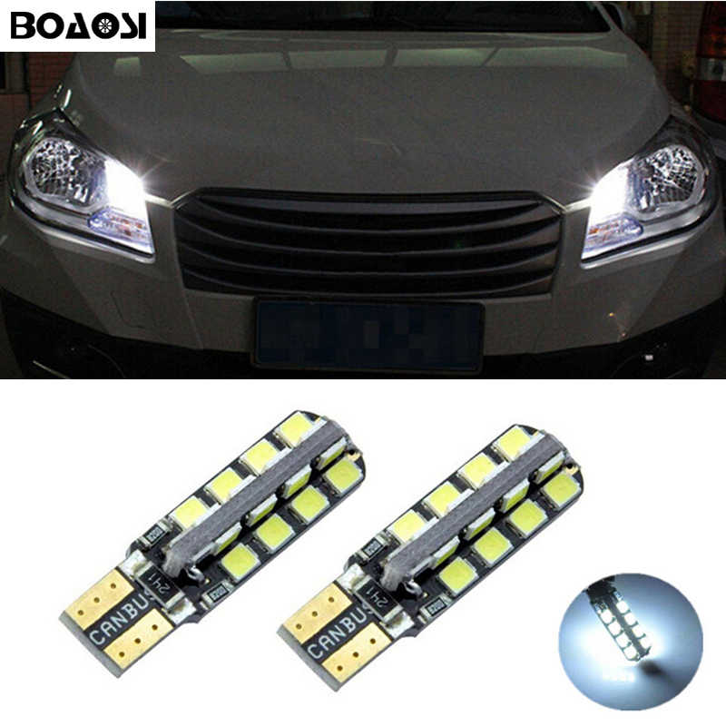 BOAOSI 2x T10 2835SMD LED Error Free Eyebrow Eyelid Light For Suzuki grand vitara sx4 swift Jimny Alivio drl