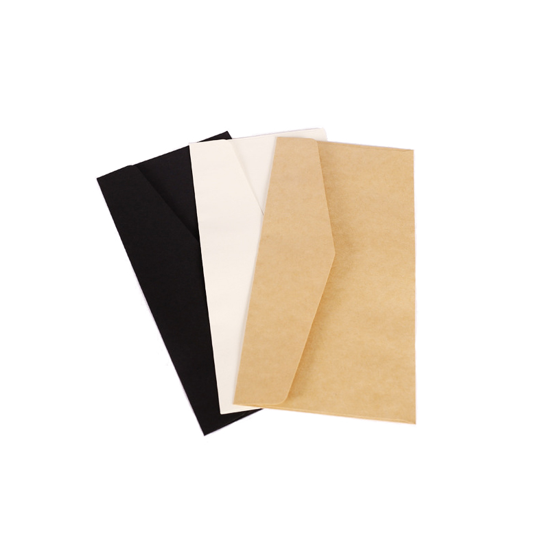 5pcs Pack Retro Solid Color Kraft Paper Envelope Simple Envelopes