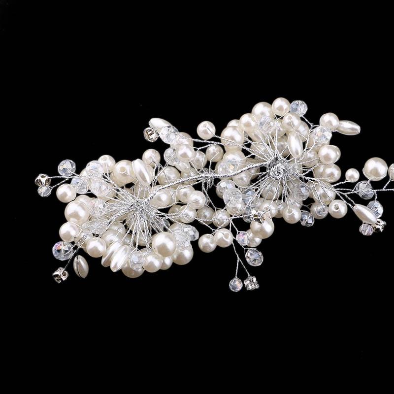 Jewelry Hair Decoration Handmade Beaded Wedding Headdress Short Hair Bridal Hair Accessories Women Gifts Christmas Headbands DA