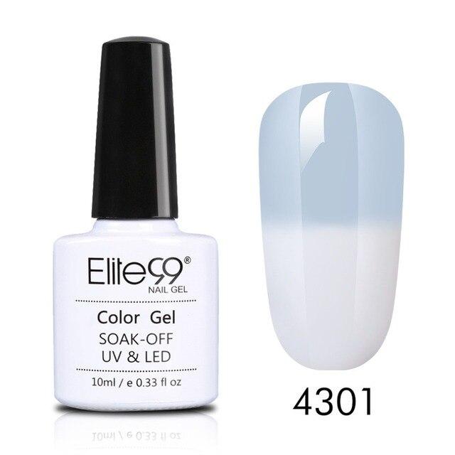 Elite99 10 ml Grau Temperatur Farbe-ändern Gel Tränken Weg Chameleon Gel Nagellack Semi Permanent Nagel Kunst design Polnischen
