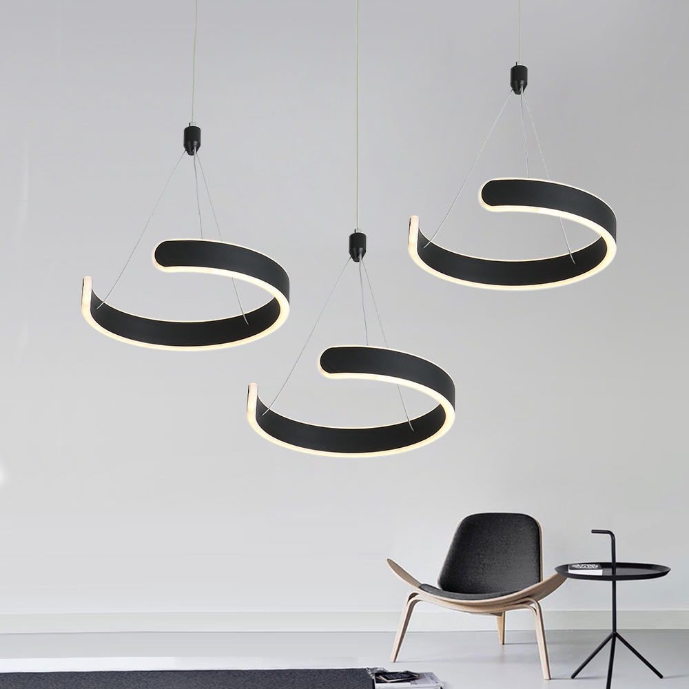Modern Led Pendant Light For Bed Dining Room Black Hanging Lighting Kitchen Nordic Design Pendant Lamp Restaurant Bar Fixtures