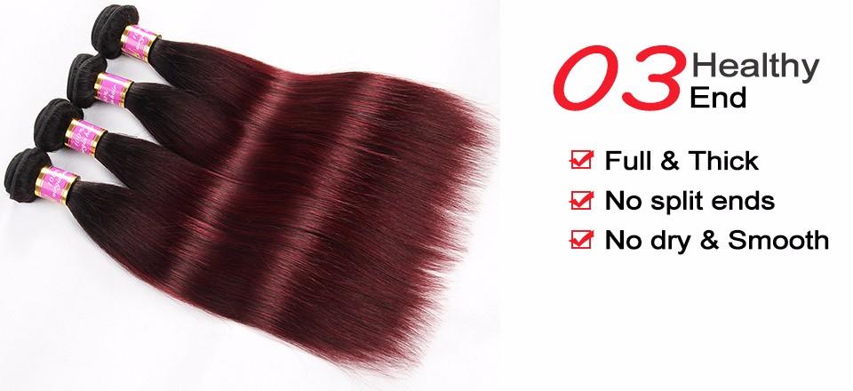 brazilian virgin hair ombre straight bundles