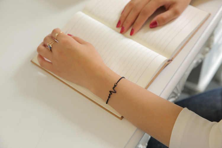 Kobiety bransoletka bransoletka ekg stetoskop bicie serca bransoletki dla kobiet mężczyzn pielęgniarka lekarz bransoletka Pulseira Feminina Pulseira