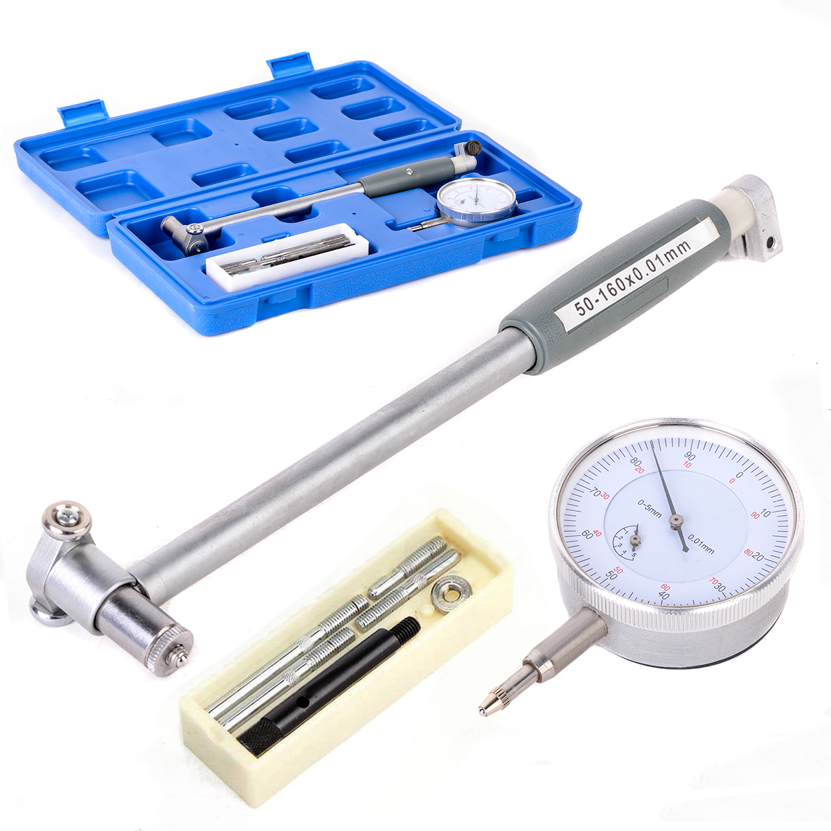 High Accuracy Dial Bore Gauge 50-160mm Mayitr Convenient Engine Cylinder Bore Gauge Measurement Dial Indicator Resolution 0.01mm motorcycle engine parts std cylinder bore size 66 4mm pistons