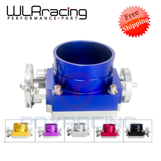 ФОТО WLRING STORE Free shipping- NEW 90MM THROTTLE BODY PERFORMANCE INTAKE MANIFOLD BILLET ALUMINUM HIGH FLOW WLR6990