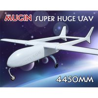 Super Huge MUGIN 4450mm UAV (H)T tail Plane Platform Aircraft FPV Radio Remote Control H T Tail RC Model Airplane DIY Toys Drone