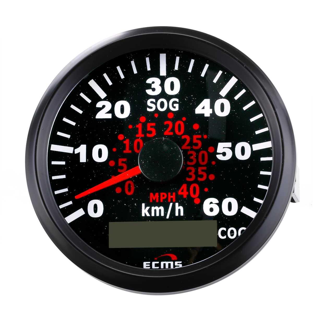 85mm Auto Car Truck Marine GPS Speedometer Waterproof Speed Sensor Meter Gauge Digital Odometer Automobiles Replacement Parts 5