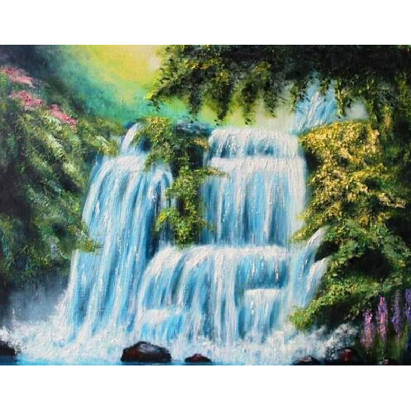 da8e4af4f3 5D DIY Diamond Painting Full Square Drill Waterfall Diamond Embroidery  Landscape Picture Of Rhinestone Mosaic Decor Home ll150