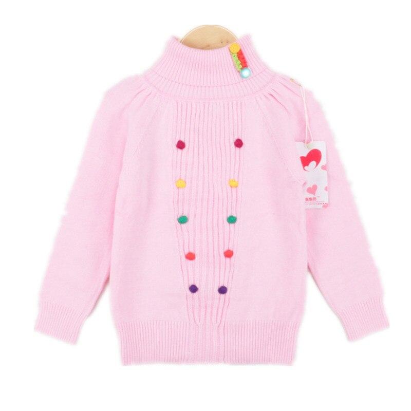 cb01c01fd2d3 Girls Sweater Turtleneck children Sweater for Girls Winter Pink Grey ...