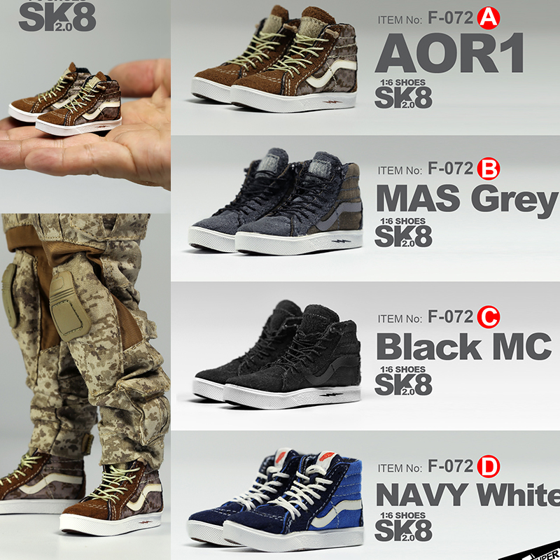 MCToys 1 6 Scale Action Figure Accessories SK8 SHOES 2 0 skateboard Sneakers Shoes Leisure DIY