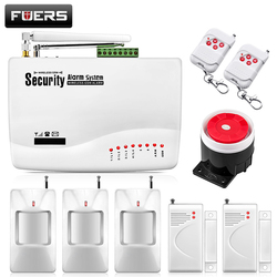 Fuers Russian Voice Wireless GSM Alarm System Dual Antenna Pet PIR Motion Sensor Smoke Detector Wireless Burglar Alarm System