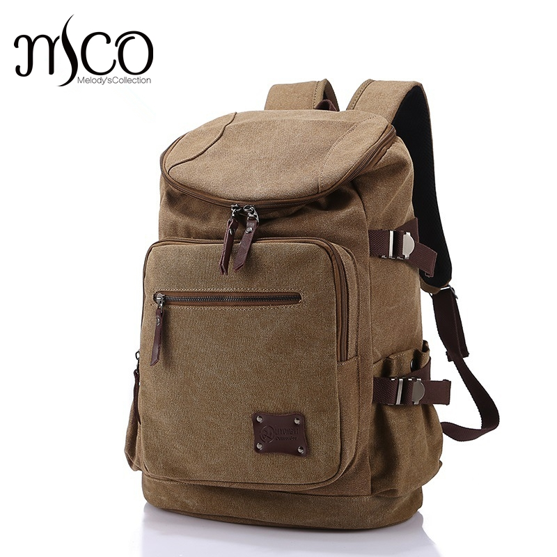 MCO Men Women Canvas Bags School Backpack for Teenagers Boys Girls Backpacks Large capacity Travel Laptop Bag Rucksack Bookbags new canvas backpack travel bag korean version school bag leisure backpacks for laptop 14 inch computer bags rucksack