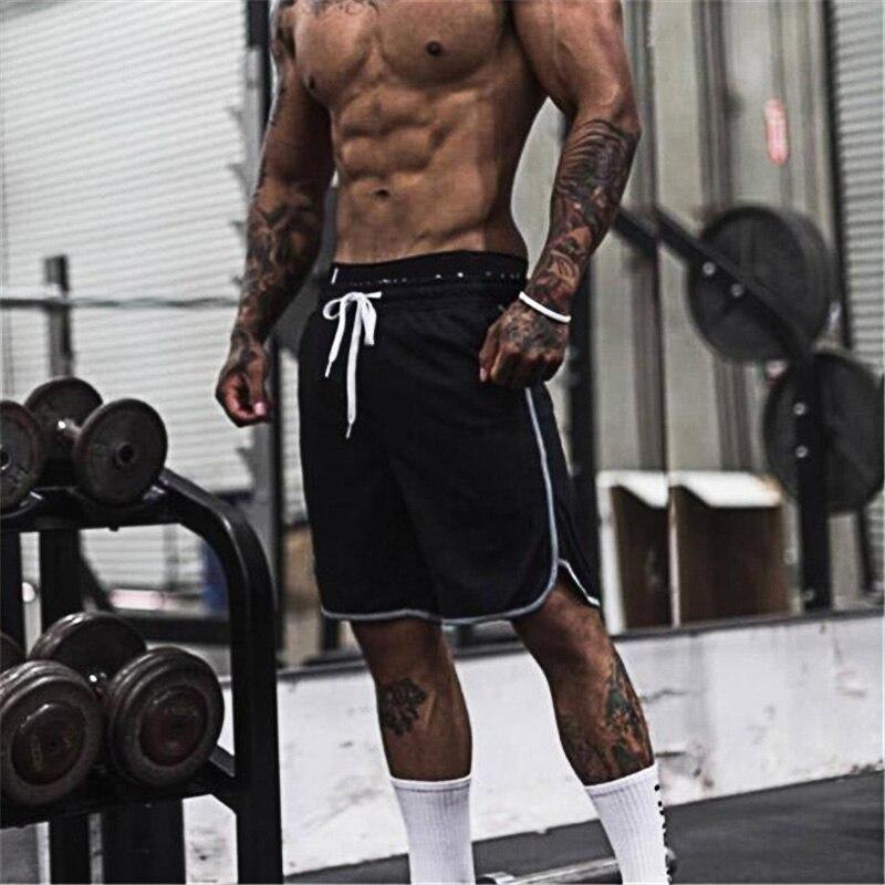 Muscleguys Summer Fitness Gyms Shorts Powerhouse Men Workout Sweat Short Pants Cotton Sportswear Man Casual Bodybuilding Shorts