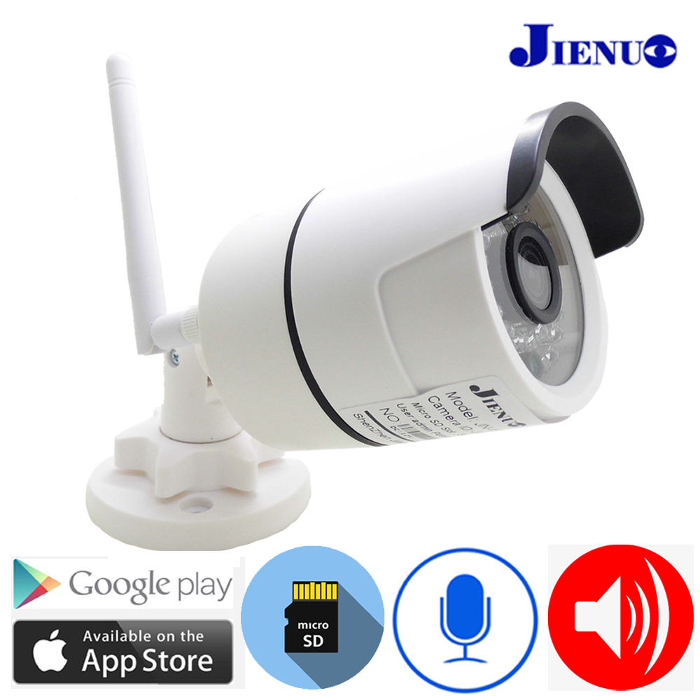 Image 2 - Two way Audio Camera IP Wifi Cctv Waterproof Infrared Speaker Wireless Surveillance Security Video Camera 720P 960P 1080P JIENUOSurveillance Cameras   -
