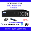 24CH NVR Onvif 1080 P HD de rede Digital Video Recorder CCTV Kit HDMI VGA 960 P / 1080 P H.264 câmera de vigilância IP