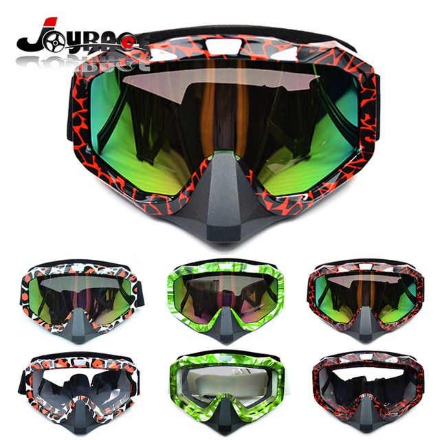 Women/Man Fashion Windproof Motocross Goggles Motorcycle Glasses Cool Frame with Colorful UV / Clear Lens