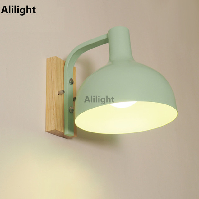 Modern Simple Wall Lamp Four Colors Wall Light Iron Art Sconces for ...