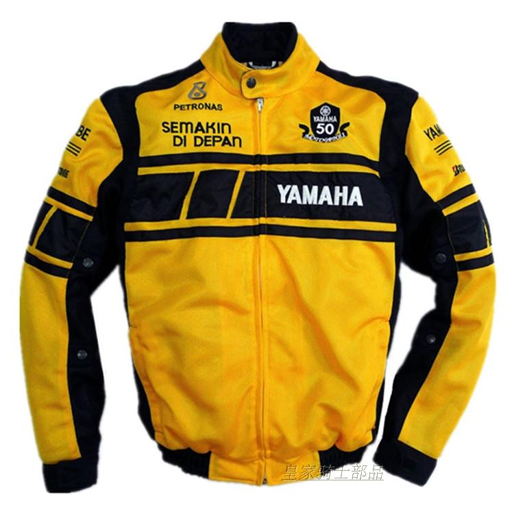 MOTOGP 50-year Anniversary Yellow Jacket For YAMAHA Racing Team Summer Mesh Breathable Clothing With 5 Protective Gear top good motorcycles mesh fabric jacket summer wear breathable hard protective overalls motorcycle clothing wy f607 green