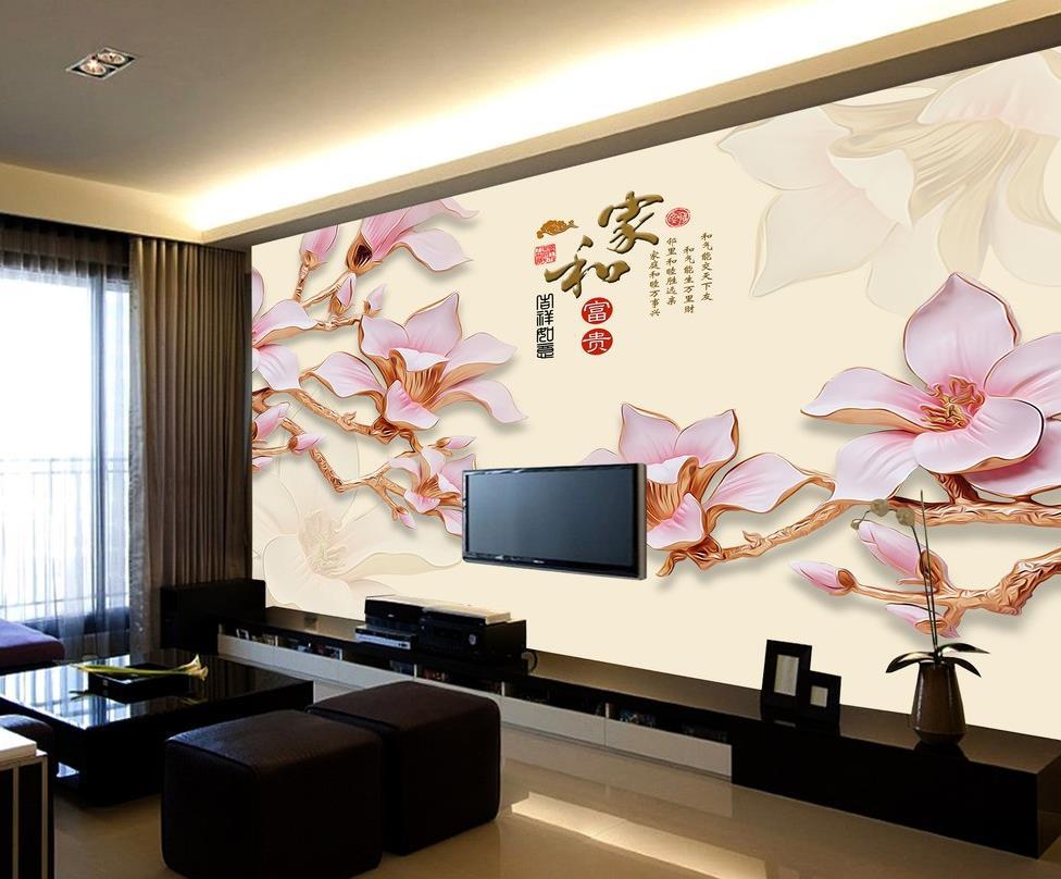 3d natur tapeten-kaufen billig3d natur tapeten partien aus china ... - Moderne Wohnzimmer Tapeten