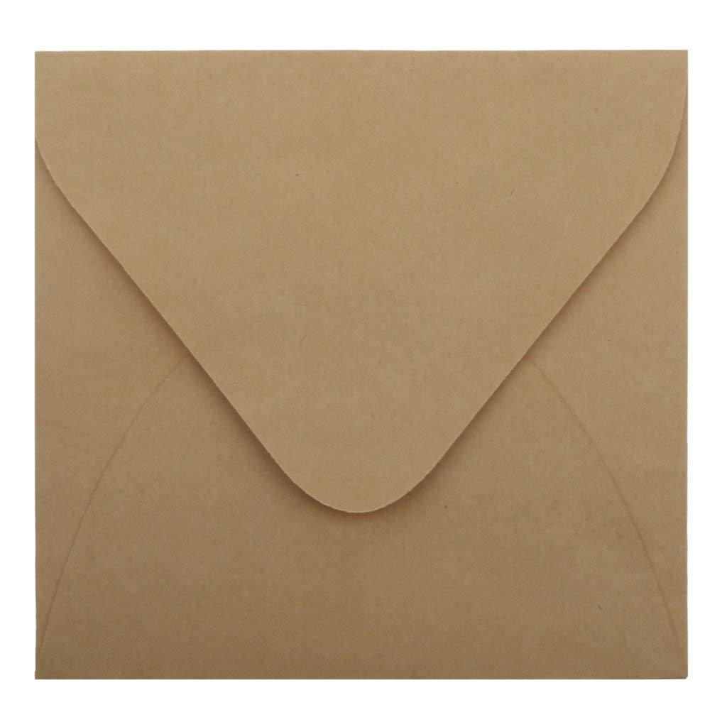 50pcs Kraft Paper Envelopes For Wedding Announcement 16x11cm