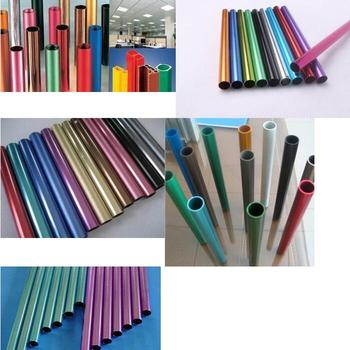 6061 6063 Aluminium Colorful  Tube Colored Sandblasting Anodized Aluminium Pipe CUSTOMIZED