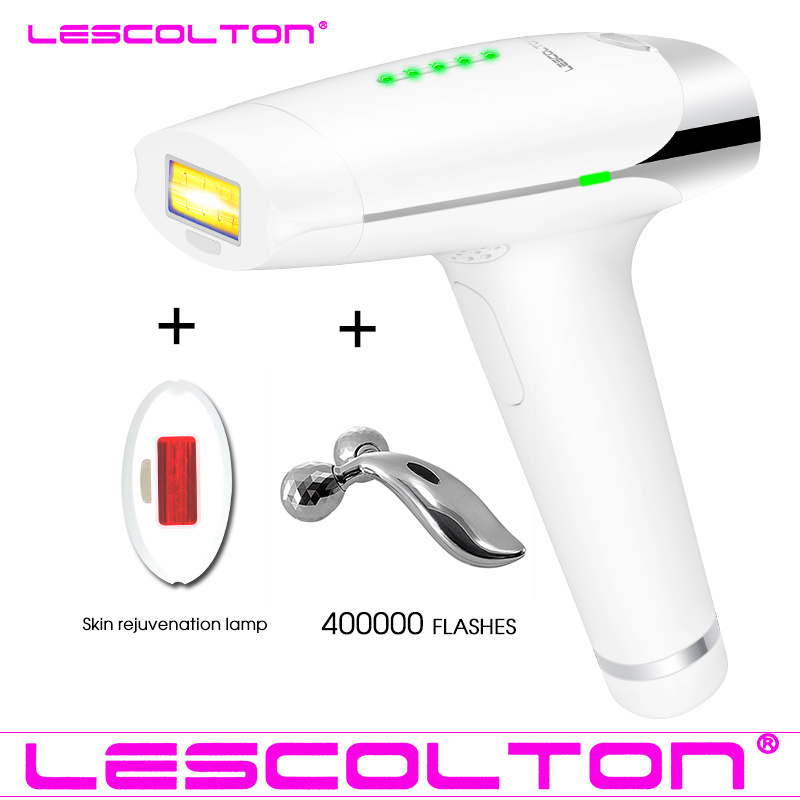 Lescolton 2in1 laser Hair Removal Device Permanent Hair Removal IPL laser Epilator Armpit Hair Removal to Remove Lip Legs Bikini laser hair removal