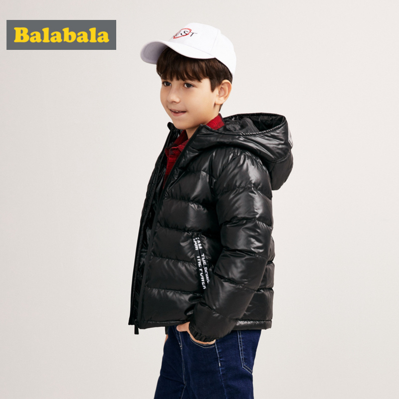 Balabala Boys Quilted Lightweight Down Jacket with Full Zip Hooded Puffer Jacket with Zip Pocket in 100% Silky Polyester LinedBalabala Boys Quilted Lightweight Down Jacket with Full Zip Hooded Puffer Jacket with Zip Pocket in 100% Silky Polyester Lined