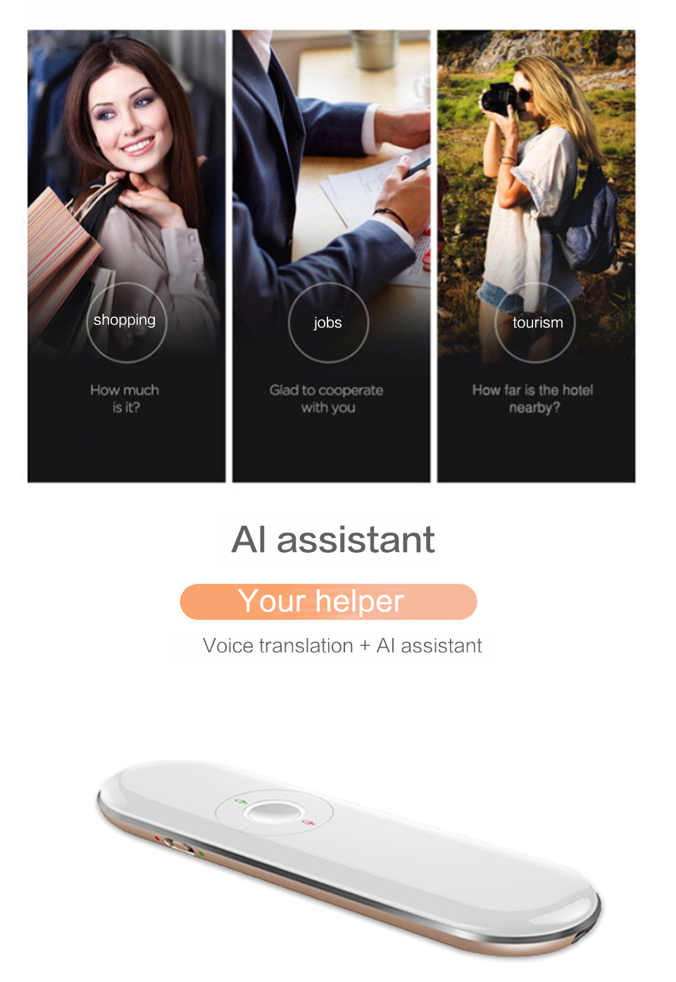 T9 Portable and Wireless Pocket Language Translator with Text and Voice Translating System for Multiple Language Suitable for Travel and Meeting 8