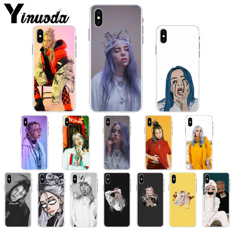 Yinuoda Billie Eilish 13 Girl  TPU Phone Case Cover Shell for Apple iPhone 8 7 6 6S Plus X XS MAX 5 5S SE XR Mobile Cases
