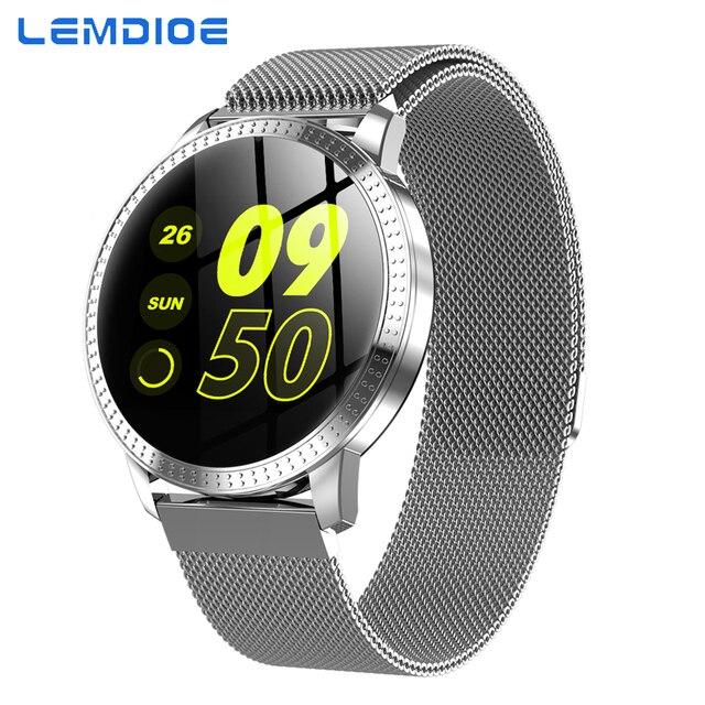 LEMDIOE Smart Watch men women heart rate blood pressure monitor Smartwatch Android Life Waterproof fitness bracelet pedometer