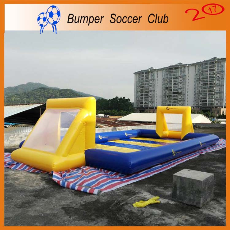 Free shipping ! Free pump ! Portable inflatable soccer field,inflatable football court,inflatable football field for sale free shipping juegos inflables 16x8 meters inflatable soccer field football court with pvc material for kids