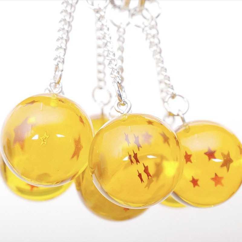 Chaveiro Bola dragão Goku Japão Desenhos Animados Anime Coleção Figuras Ornamento Estrelas Bola De Cristal Chaveiro Cadeia Chaveiro Anel Chave Do Presente
