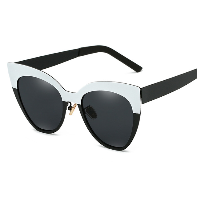 c6e2ea9933 Fashion Cat Eye Sunglasses Women Vintage Sun Glasses Wide Frame Glasses  Brand Designer Sexy Girls Eyewear oculos de sol UV400