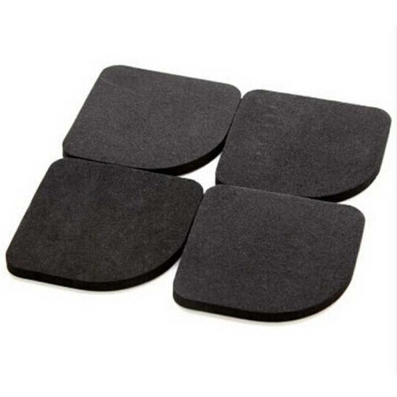 4pcs Set Washing Machine Black Shock Pads Non Slip Mats