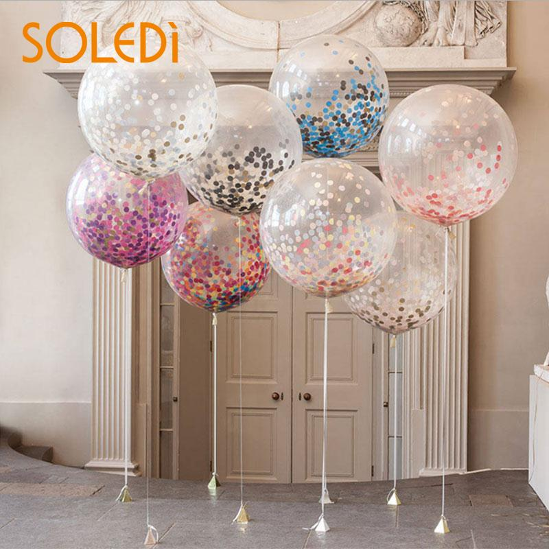 5pcs/lot 12 Inches Latex Wedding Sequin Balloons Arrangement Birthday Engagement Party Baby Shower Balloons Romantic Decor