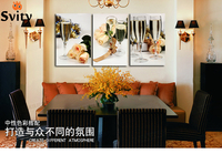 3 Rectangle A Partial Free Shipping Home Decoration Art Canvas Paintings Glass Viewing Digital Image Frameless