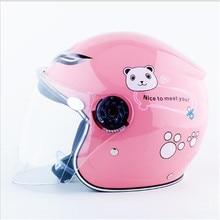 pink color Cute Child Helmets Motorcycle Motorbike Scooter Kids Children Baby Helmet Safty Moto Bicycle Bike