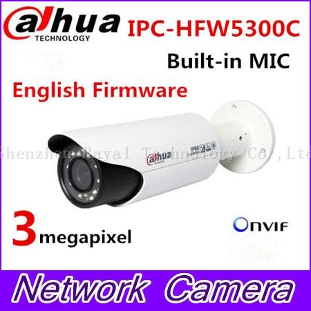 Original DAHUA IPC-HFW5300C 3Mp zoom lens full HD IR 30m Outdoor waterproof network ip camera удлинитель zoom ecm 3