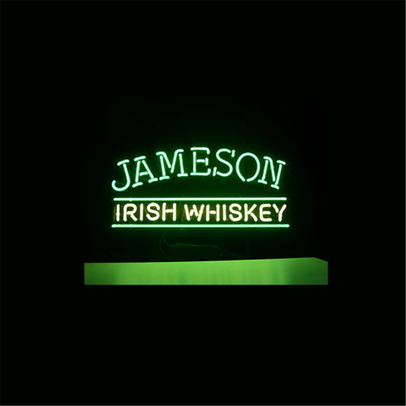 NEON SIGN For JAMESON IRISH WHISKEY SIGN Signboard REAL