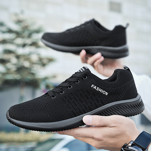 New Mesh Men Casual Shoes Lac-up Men Shoes Lightweight Comfortable Breathable Walking Sneakers Tenis Feminino Zapatos For Man