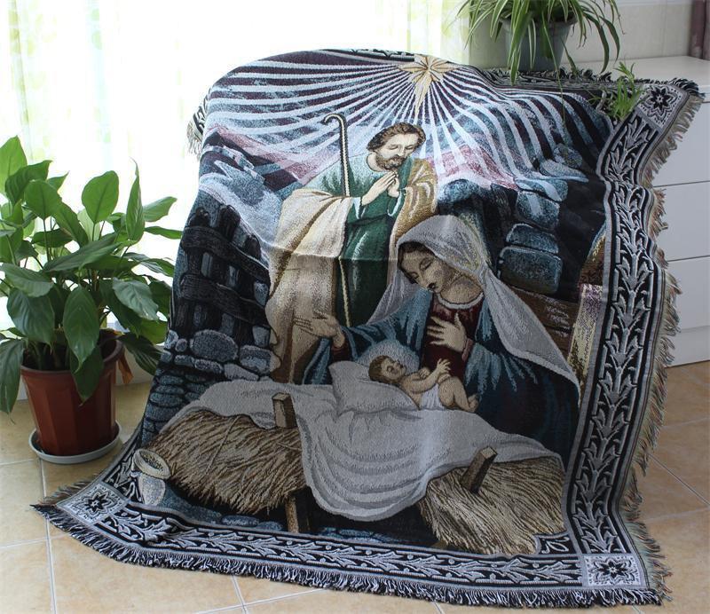 New Jesus Knit Chair Sofa Towel Home Sofa Throw Blanket
