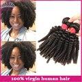 Бразильский Вьющиеся Девственные Волосы 4 ШТ. Бразильские Афро Кудрявый Вьющиеся Волосы Человеческих Волос Класс 6А Необработанные Virgin Бразильские Волос